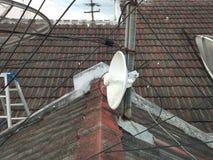 错误安置Antena Wifi 免版税库存照片