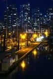 错误小河海滨广场在温哥华, BC,加拿大 库存照片