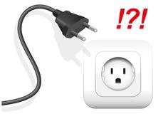 错误插口插座连接器 免版税库存照片