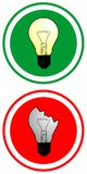错误的电灯泡配齐 向量例证