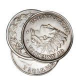 错误的硬币 免版税图库摄影
