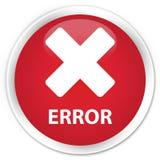 错误(取消象)优质红色圆的按钮 免版税库存照片