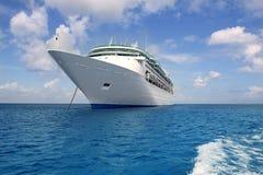 锚点小船加勒比cozumel巡航海运 免版税库存图片