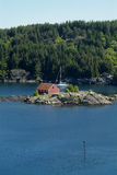 锚点海湾挪威风船 免版税库存图片
