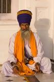 锡克教徒的人在阿姆利则,印度。 免版税库存照片