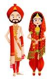 锡克教徒的婚礼夫妇 库存例证