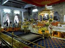 锡克教徒的寺庙。 免版税库存照片