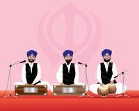锡克教徒的音乐家 库存照片