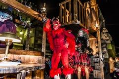 锡切斯狂欢节2013年 库存图片