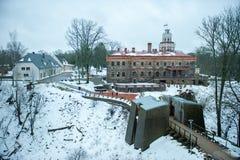 锡古尔达新的城堡在拉脱维亚 库存图片