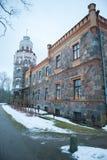 锡古尔达新的城堡在拉脱维亚 免版税库存照片