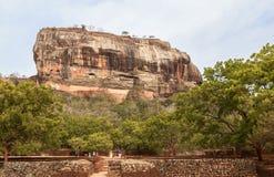 锡吉里耶岩石在斯里兰卡 免版税库存照片