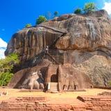 锡吉里耶岩石堡垒,斯里兰卡。 免版税库存图片