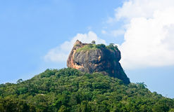 锡吉里耶岩石堡垒 免版税库存图片