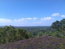 锡吉里耶岩石斯里兰卡的上面 图库摄影
