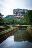 锡吉里耶狮子岩石堡垒在斯里兰卡 免版税图库摄影