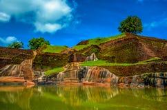 锡吉里耶狮子岩石斯里兰卡 图库摄影