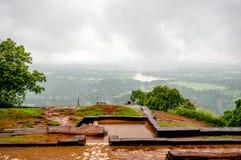 从锡吉里耶狮子岩石,斯里兰卡的美丽的景色 图库摄影