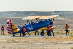 锡夫里希萨尔,埃斯基谢希尔,土耳其- 2017年9月17日:锡夫里希萨尔Airshows (SHG),在SUSHM显示的小航空事件 免版税库存照片