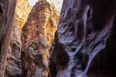 锡安使锡安国家公园6狭窄 库存图片