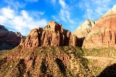 锡安国家公园山脉,犹他,美国 库存图片