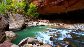 锡安峡谷使犹他狭窄 影视素材