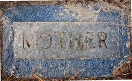 锡安路德教会的公墓母亲标志 免版税库存图片