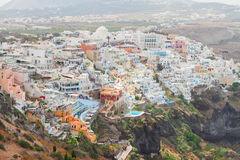 锡拉,圣托里尼海岛的首都 库存照片