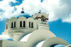 锡拉,海岛圣托里尼, GREECE-SEPTEMBER, 05,2014 免版税库存图片