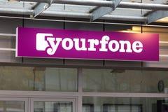 锡根,北莱茵-威斯特法伦/德国- 28 10 18:yourfone签到siegen德国 库存照片