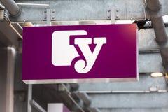 锡根,北莱茵-威斯特法伦/德国- 28 10 18:yourfone签到siegen德国 免版税图库摄影
