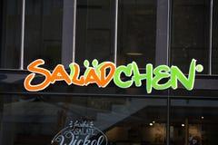 锡根,北部莱茵河西华里亚/德国- 17 10 18:salädchen签到siegen德国 库存图片