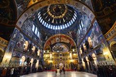 锡比乌正统大教堂  库存照片