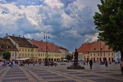 锡比乌,罗马尼亚- 2014年6月08日 免版税库存图片