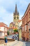 锡比乌,罗马尼亚- 2014年7月19日 免版税库存图片