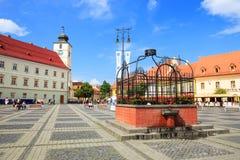 锡比乌,罗马尼亚- 2014年7月19日 免版税库存照片