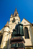 锡比乌-路德教会的大教堂 图库摄影