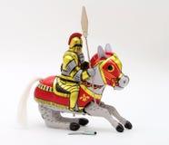 锡玩具系列-骑马的骑士 免版税库存图片