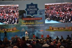 锡瓦斯天2017年Ä°stanbul,土耳其 库存图片