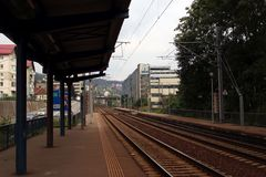 锡纳亚Sud火车站 库存照片