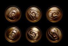 锡罐和环形下拉式 免版税图库摄影