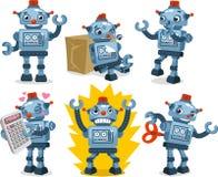 锡罐机器人行动集合 图库摄影