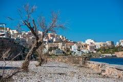 锡罗斯岛海岛, Cycaldes,希腊 免版税库存图片
