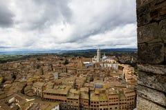 锡耶纳和大教堂看法  库存照片