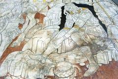 锡耶纳大教堂中央寺院二锡耶纳大理石地板的片段  图库摄影