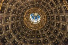 锡耶纳大教堂中央寺院二锡耶纳,意大利天花板  免版税库存照片