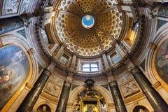 锡耶纳大教堂中央寺院二锡耶纳,意大利天花板  库存图片