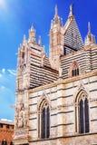 锡耶纳大教堂圣玛丽亚Assunta/中央寺院二锡耶纳在锡耶纳 库存照片