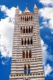 锡耶纳大教堂圣玛丽亚Assunta/中央寺院二锡耶纳在锡耶纳 库存图片