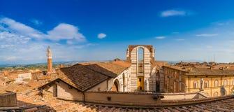 锡耶纳大教堂屋顶  库存图片